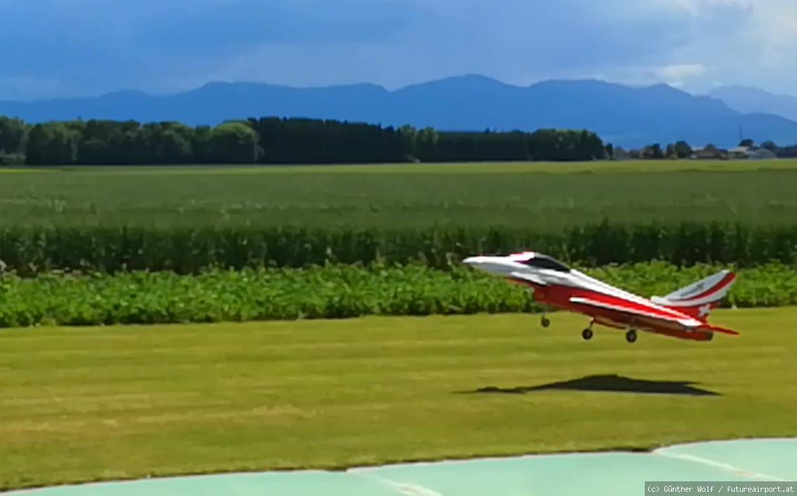 Pilot Alexander Startet neuen Jet