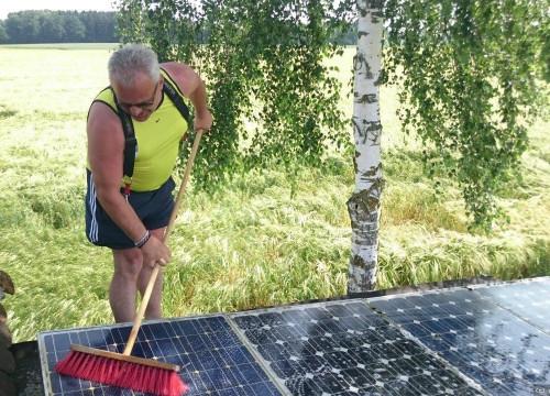 Manfred der Solarputzer